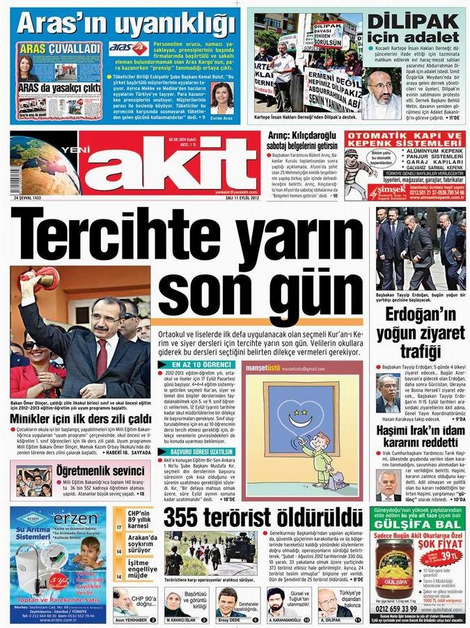 Gazete Manşetleri - 11 Eylül Salı 4