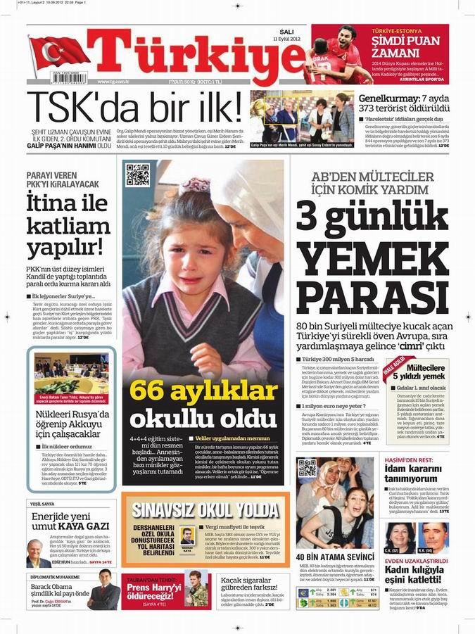 Gazete Manşetleri - 11 Eylül Salı 6