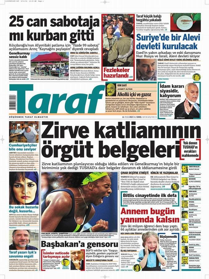 Gazete Manşetleri - 11 Eylül Salı 8