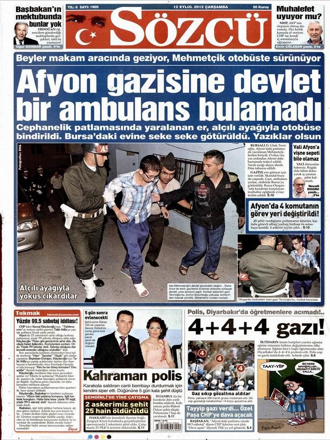 Gazete Manşetleri - 12 Eylül Çarşamba 10