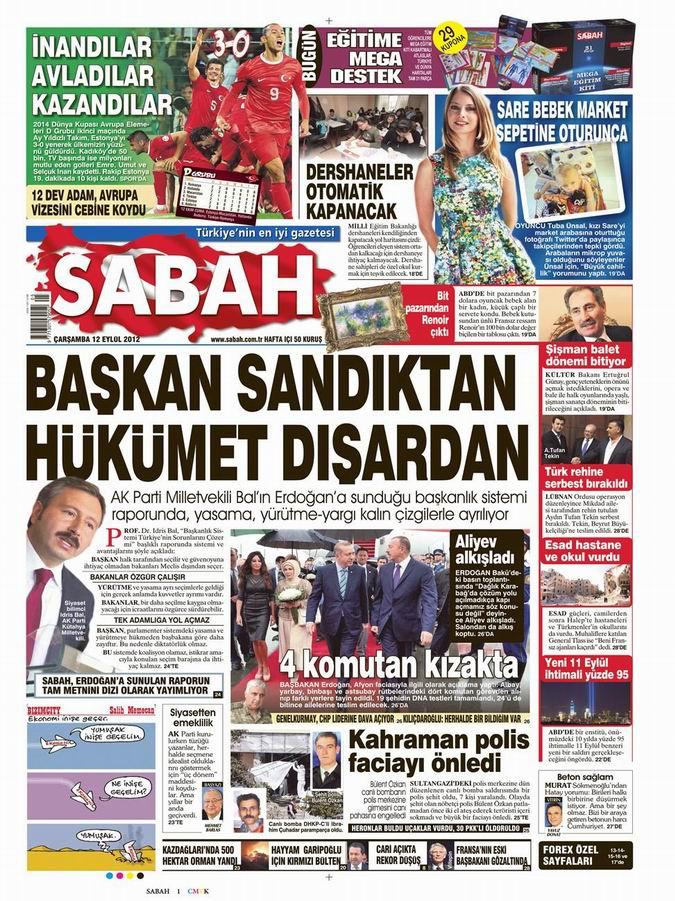 Gazete Manşetleri - 12 Eylül Çarşamba 11