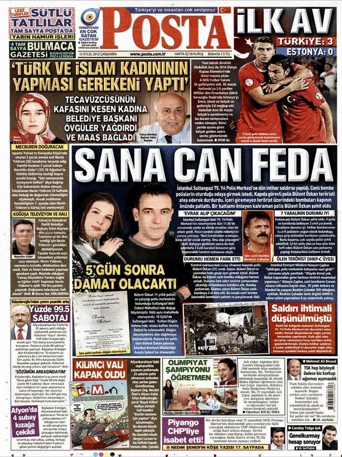 Gazete Manşetleri - 12 Eylül Çarşamba 13