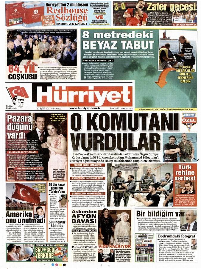 Gazete Manşetleri - 12 Eylül Çarşamba 18