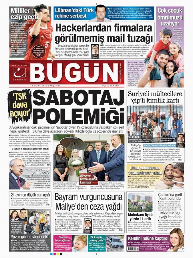 Gazete Manşetleri - 12 Eylül Çarşamba 23