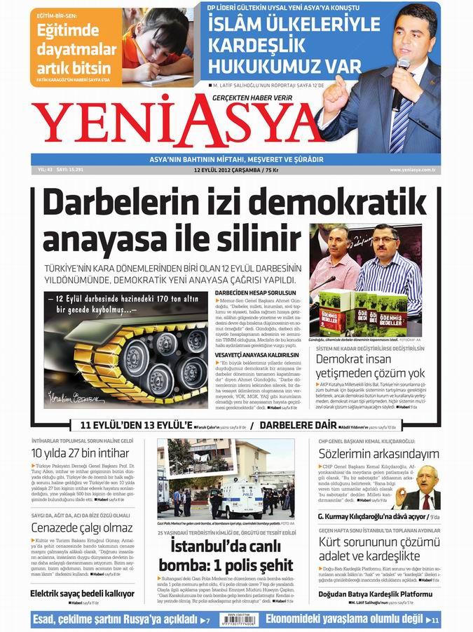 Gazete Manşetleri - 12 Eylül Çarşamba 3