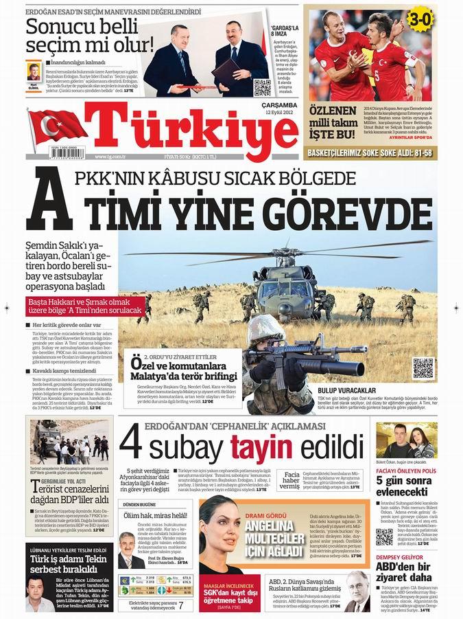 Gazete Manşetleri - 12 Eylül Çarşamba 6