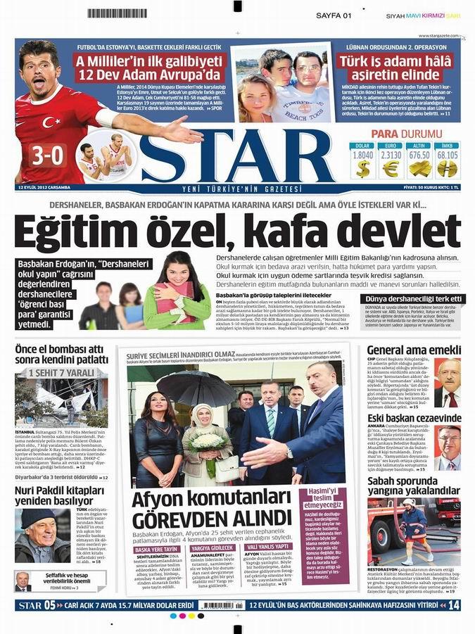 Gazete Manşetleri - 12 Eylül Çarşamba 9