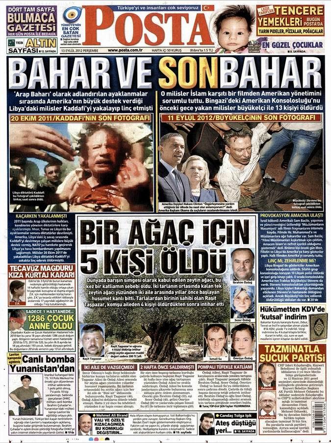 Gazete Manşetleri - 13 Eylül Perşembe 11