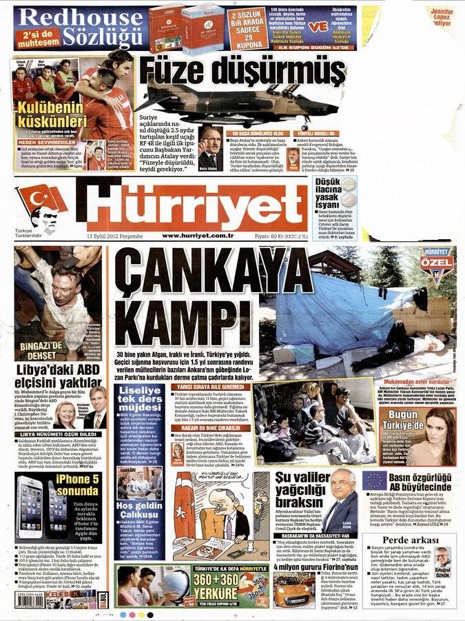 Gazete Manşetleri - 13 Eylül Perşembe 16