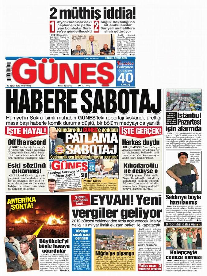 Gazete Manşetleri - 13 Eylül Perşembe 18