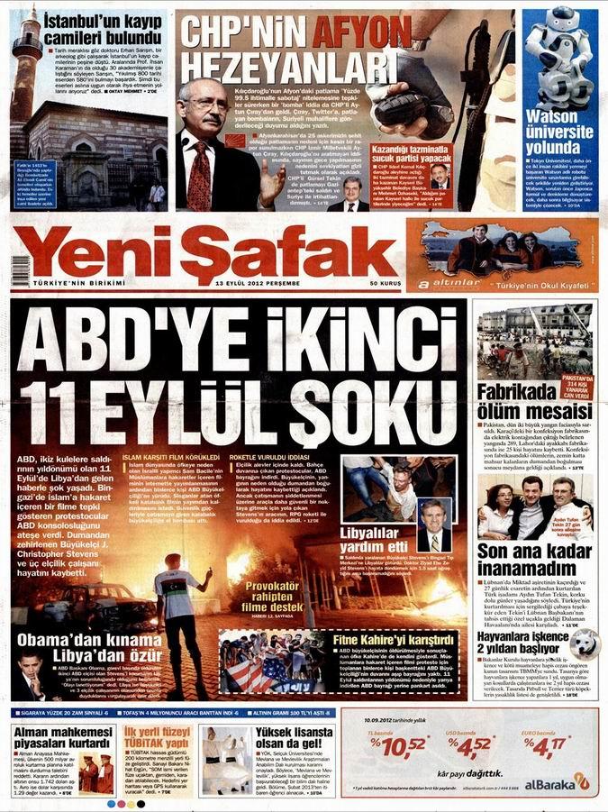 Gazete Manşetleri - 13 Eylül Perşembe 2