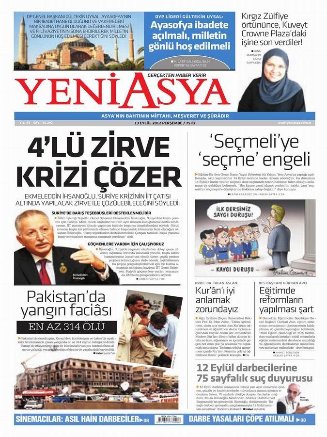 Gazete Manşetleri - 13 Eylül Perşembe 3