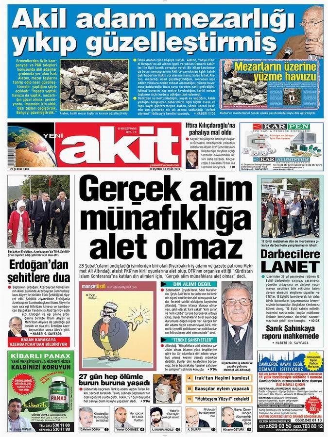Gazete Manşetleri - 13 Eylül Perşembe 4