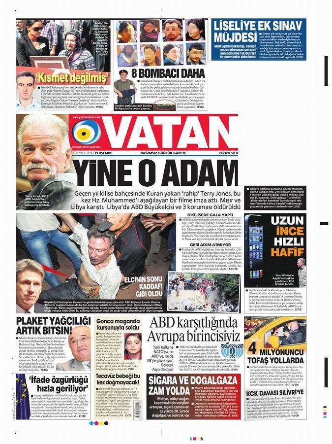 Gazete Manşetleri - 13 Eylül Perşembe 5