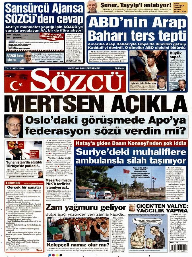 Gazete Manşetleri - 13 Eylül Perşembe 8