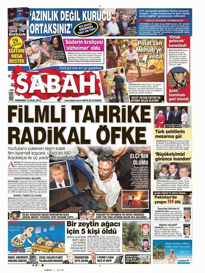 Gazete Manşetleri - 13 Eylül Perşembe 9