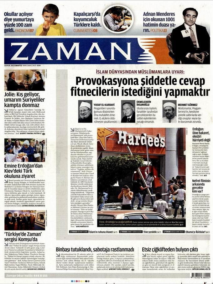 Gazete Manşetleri - 15 Eylül Cumartesi 1