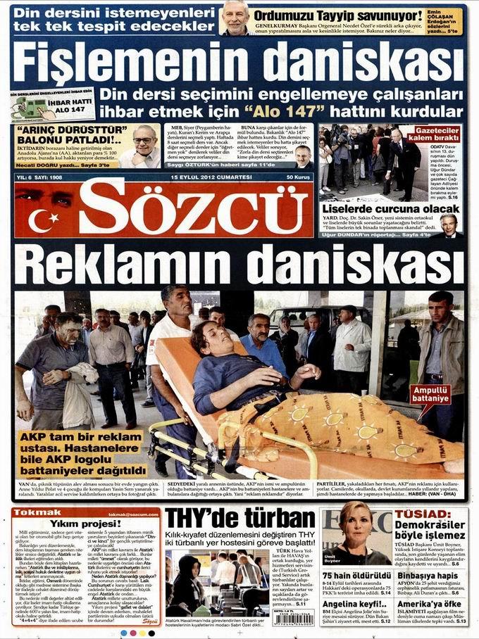 Gazete Manşetleri - 15 Eylül Cumartesi 10