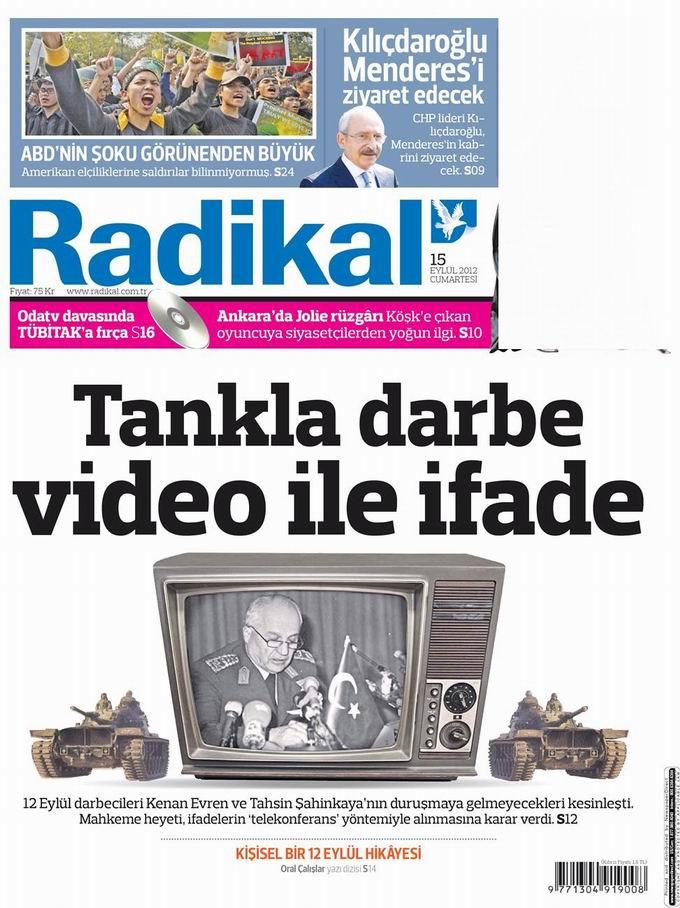 Gazete Manşetleri - 15 Eylül Cumartesi 12