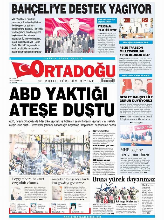 Gazete Manşetleri - 15 Eylül Cumartesi 14