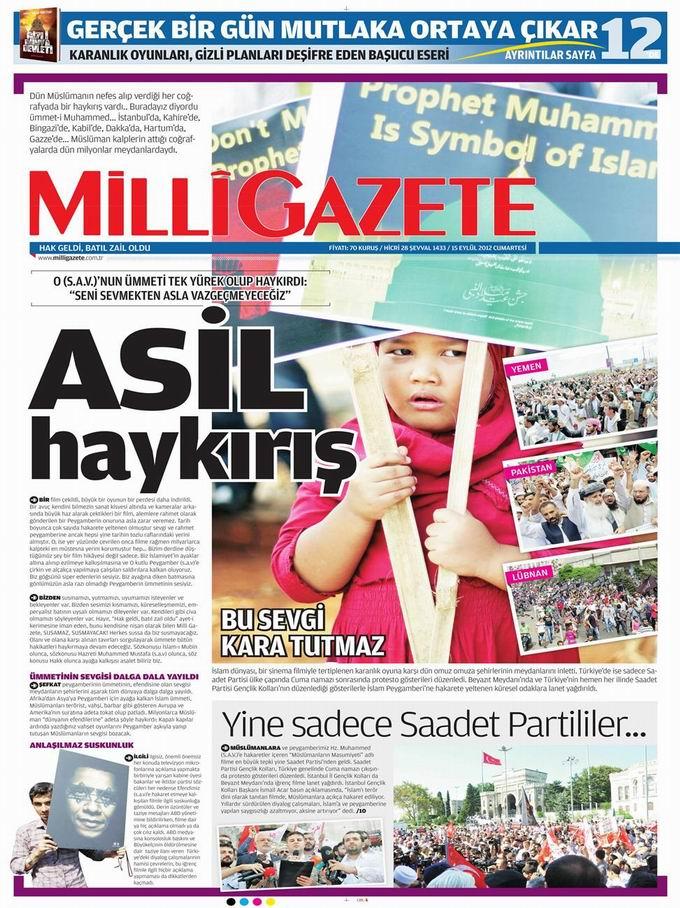 Gazete Manşetleri - 15 Eylül Cumartesi 16