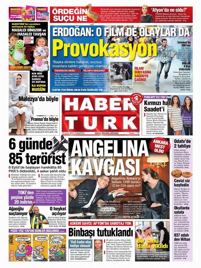 Gazete Manşetleri - 15 Eylül Cumartesi 19