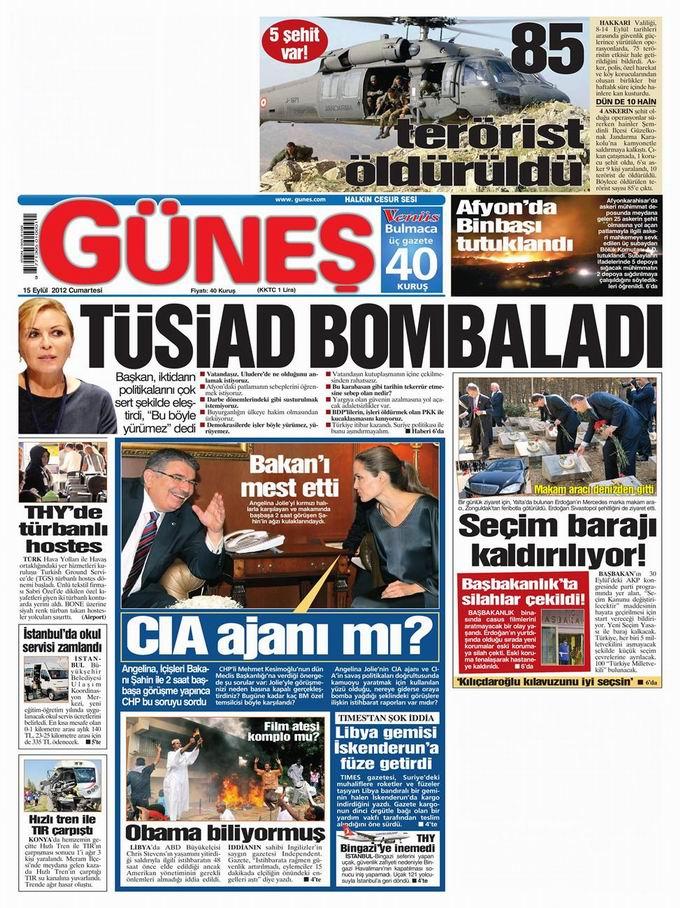 Gazete Manşetleri - 15 Eylül Cumartesi 20