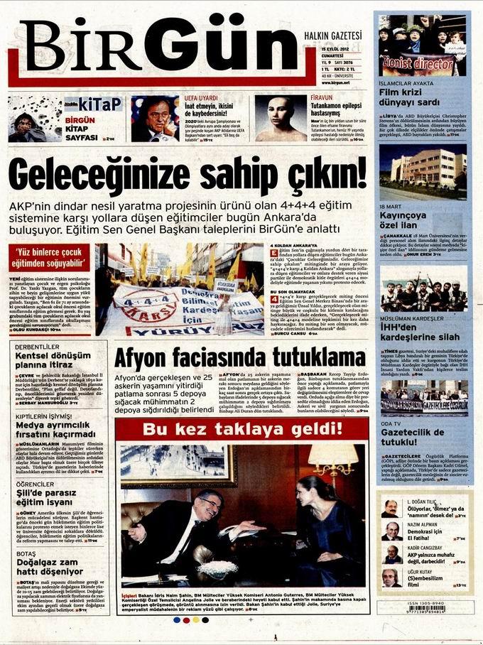 Gazete Manşetleri - 15 Eylül Cumartesi 24