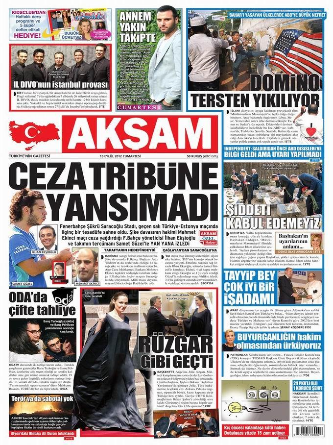 Gazete Manşetleri - 15 Eylül Cumartesi 25