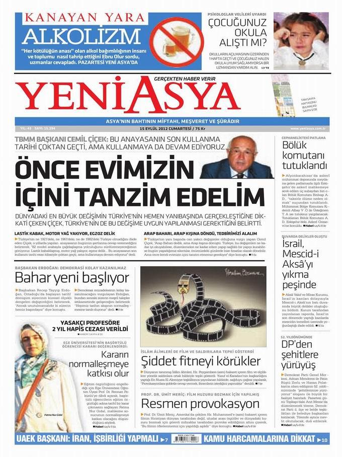 Gazete Manşetleri - 15 Eylül Cumartesi 3