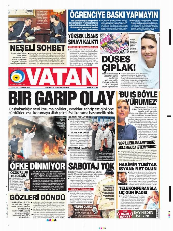Gazete Manşetleri - 15 Eylül Cumartesi 5