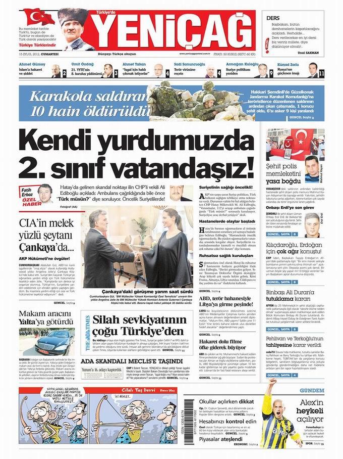 Gazete Manşetleri - 15 Eylül Cumartesi 7