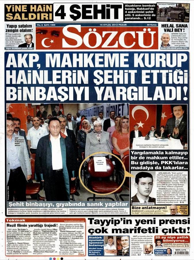 Gazete Manşetleri - 16 Eylül Pazar 10
