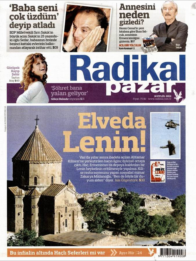 Gazete Manşetleri - 16 Eylül Pazar 12
