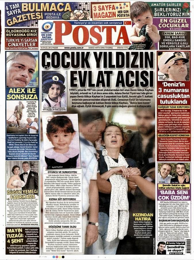 Gazete Manşetleri - 16 Eylül Pazar 13
