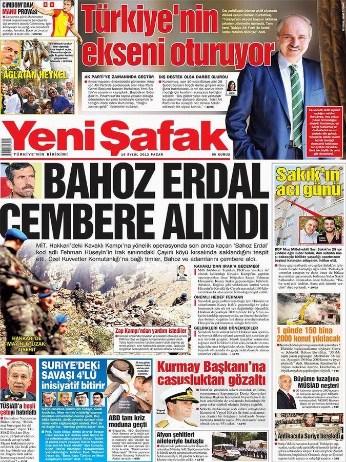 Gazete Manşetleri - 16 Eylül Pazar 2