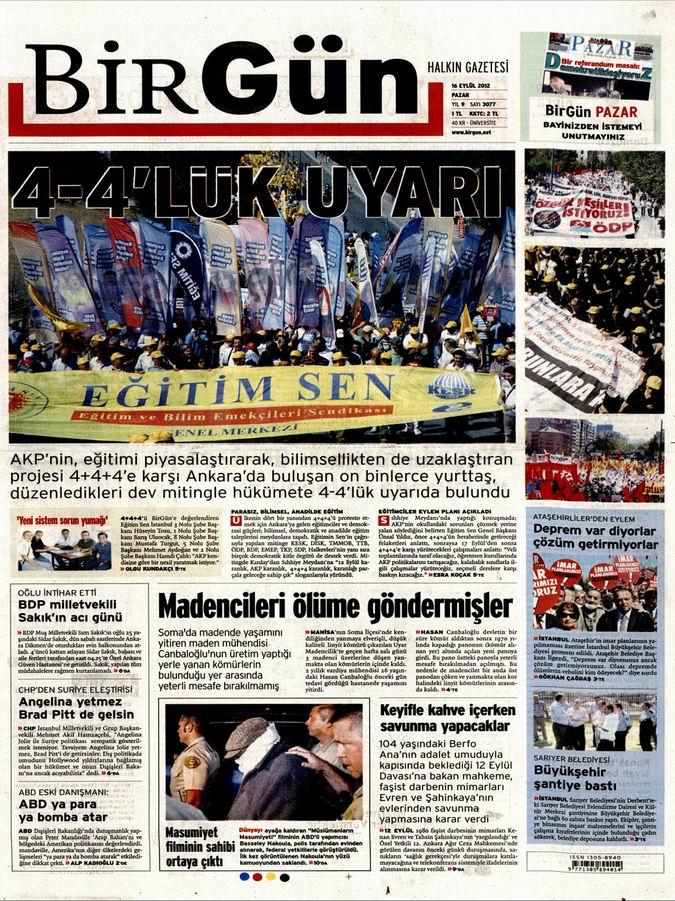 Gazete Manşetleri - 16 Eylül Pazar 23