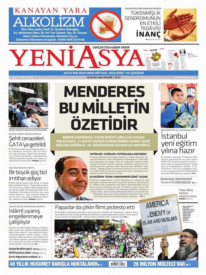 Gazete Manşetleri - 16 Eylül Pazar 3