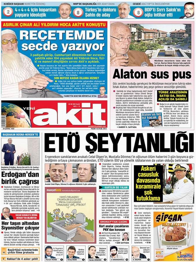 Gazete Manşetleri - 16 Eylül Pazar 4