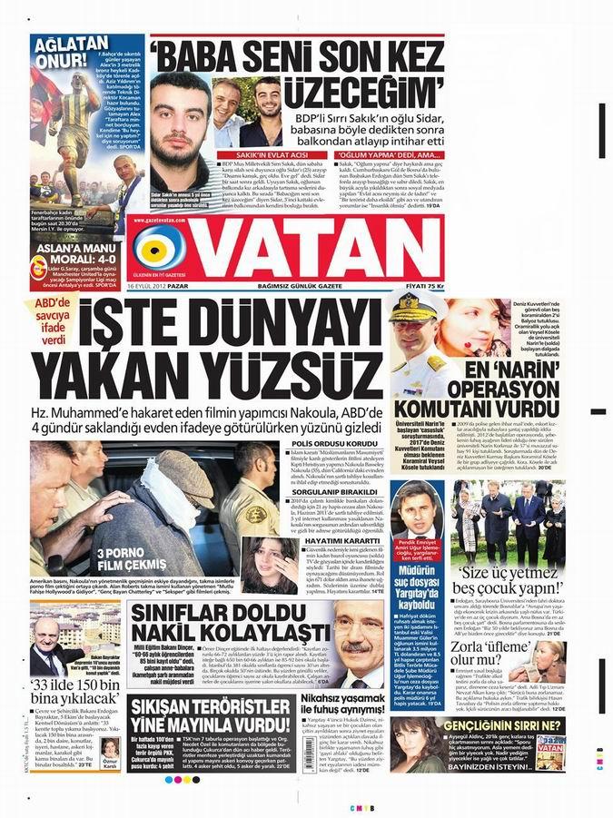 Gazete Manşetleri - 16 Eylül Pazar 5