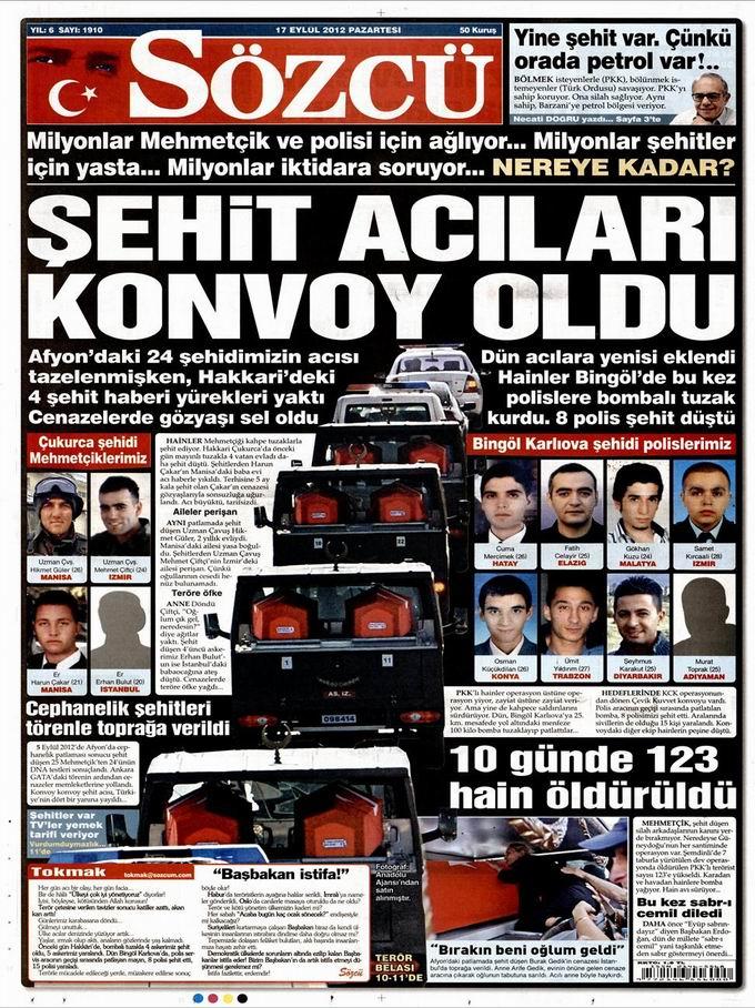 Gazete Manşetleri - 17 Eylül Pazartesi 10