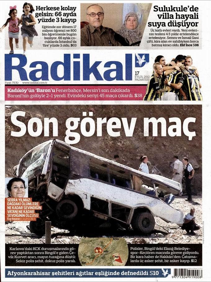 Gazete Manşetleri - 17 Eylül Pazartesi 12