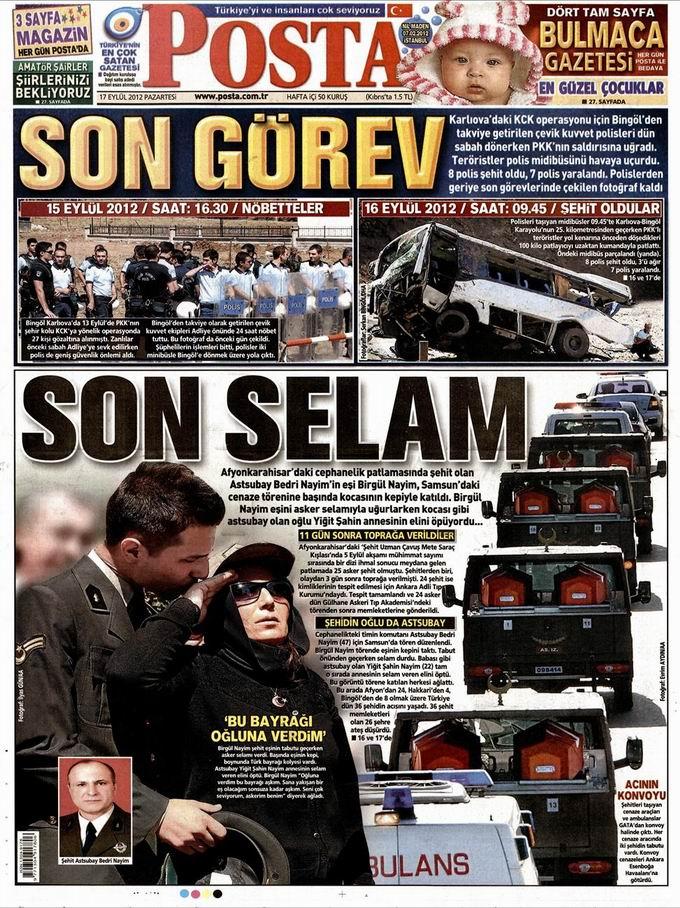 Gazete Manşetleri - 17 Eylül Pazartesi 13