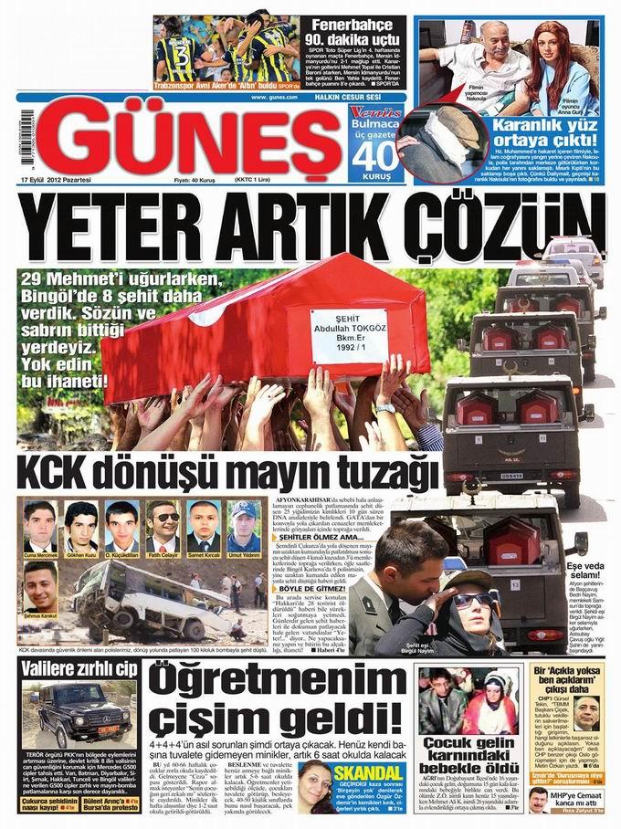 Gazete Manşetleri - 17 Eylül Pazartesi 20