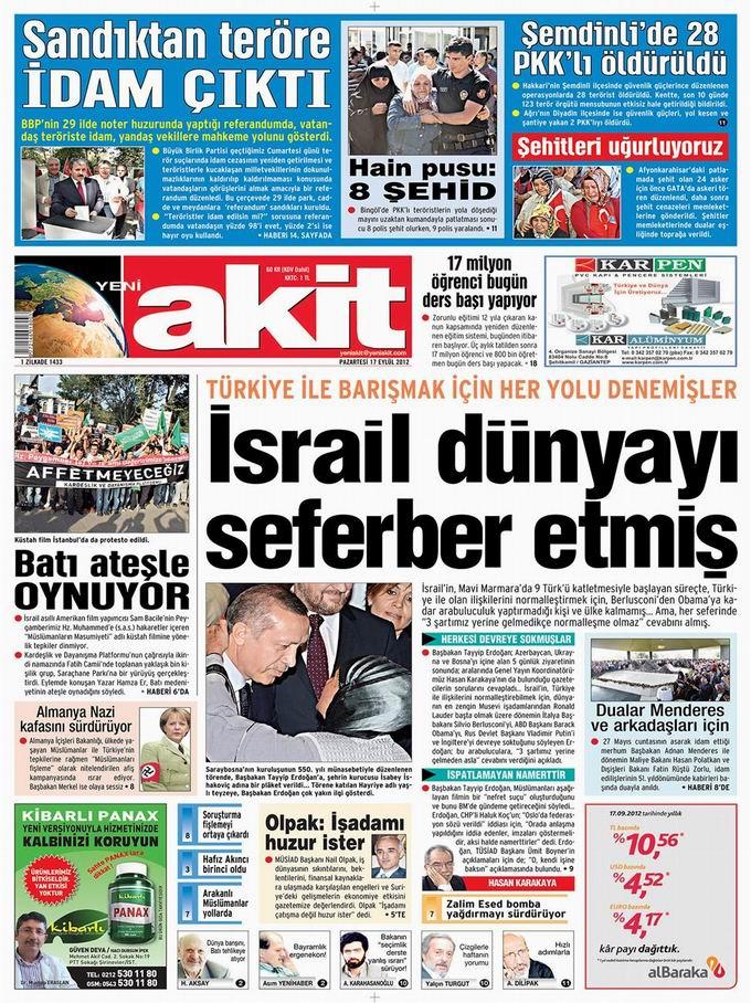 Gazete Manşetleri - 17 Eylül Pazartesi 4