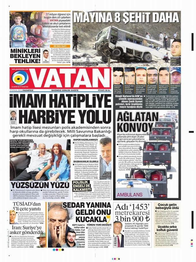 Gazete Manşetleri - 17 Eylül Pazartesi 5