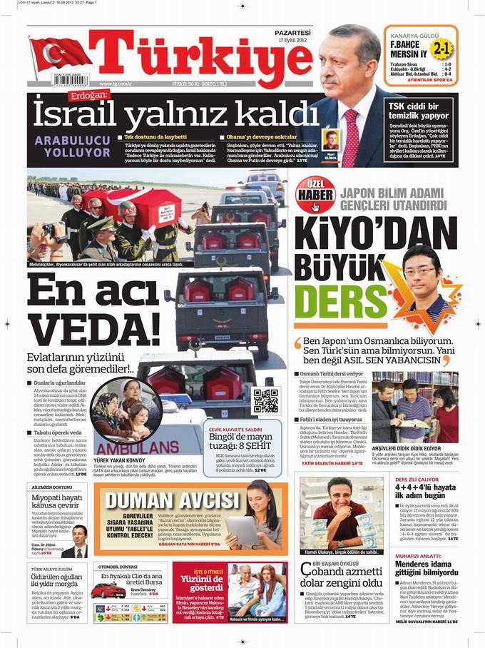 Gazete Manşetleri - 17 Eylül Pazartesi 6