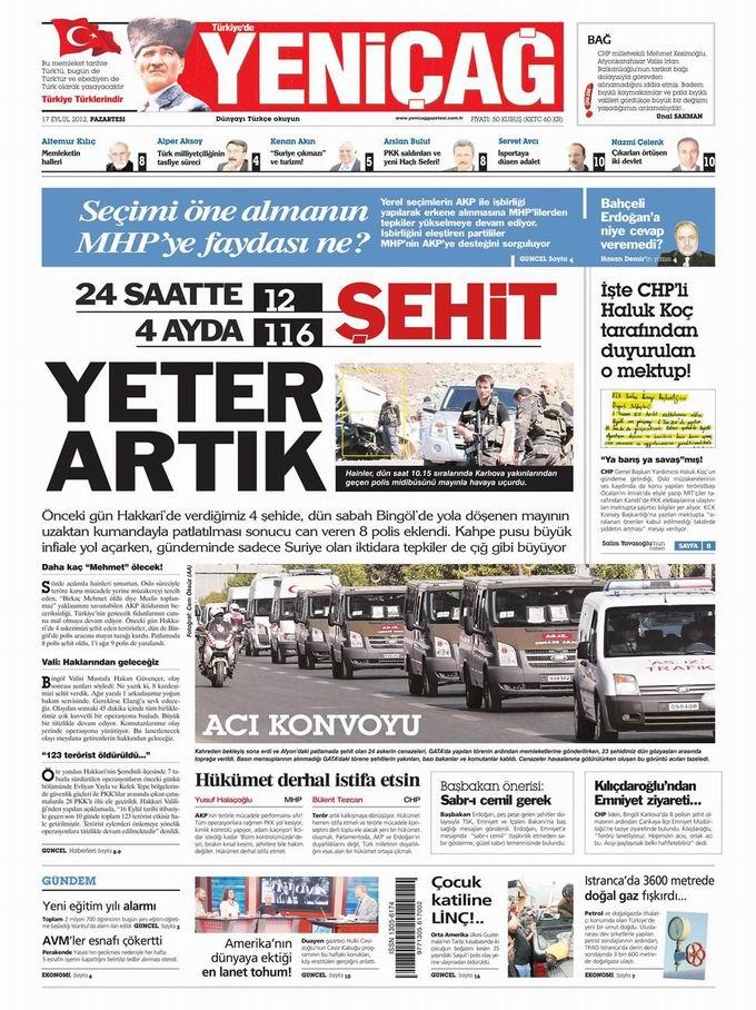 Gazete Manşetleri - 17 Eylül Pazartesi 7