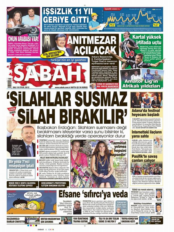 Gazete Manşetleri - 18 Eylül Salı 10