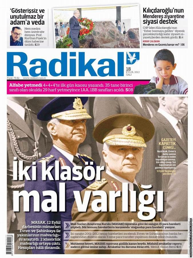 Gazete Manşetleri - 18 Eylül Salı 11